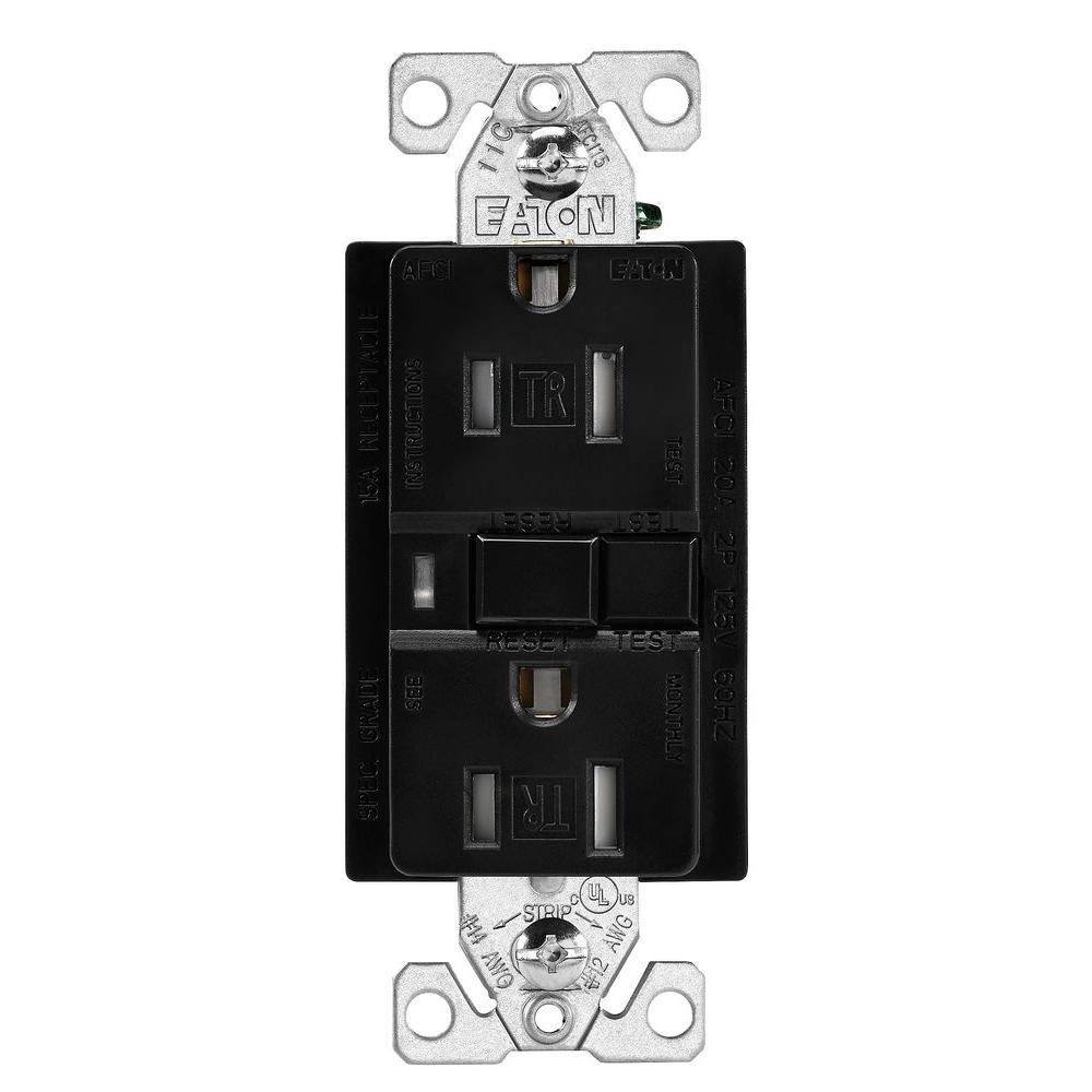 P Amp S Af15trw 15 Tamper Resistant Afci Arc Fault 3677789 Af15tri Circuit Interrupter Ivory Eaton 125volt Duplex
