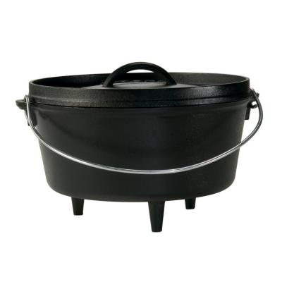 5 Qt. Cast Iron Deep Dutch Oven with Lid and Bail Handle