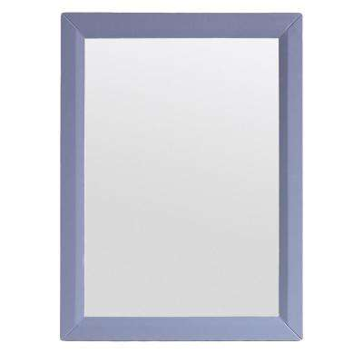Shaker 30 in. W x 30 in. H Framed Wall Mounted Vanity Bathroom Mirror in Grey