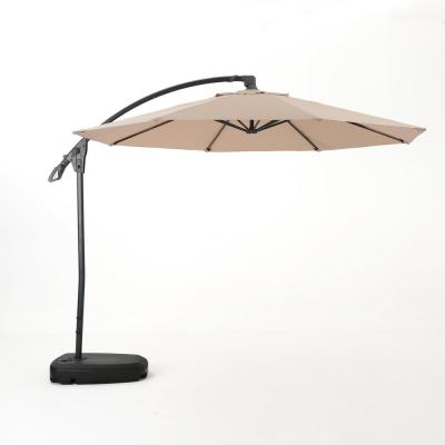 9.71 ft. Aluminum Cantilever Tilt Patio Umbrella in Sand