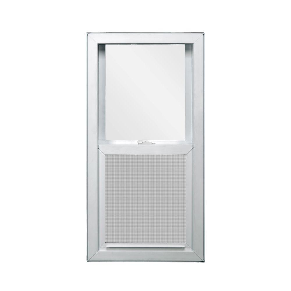 JELD-WEN 29.5 in. x 47.5 in. V-4500 Series Single Hung Vinyl Window - White