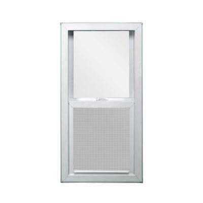 35.5 in. x 59.5 in. V-4500 Series White Vinyl Single Hung Window with Fiberglass Mesh Screen