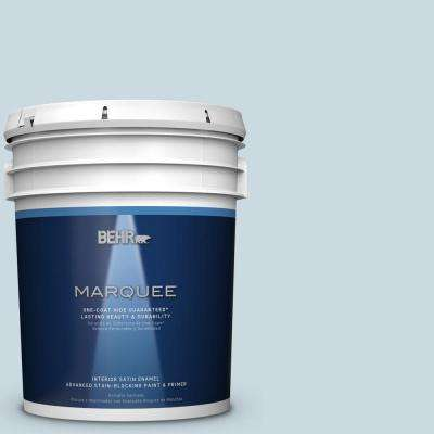 5 gal. #MQ3-53 Sky Light View One-Coat Hide Satin Enamel Interior Paint