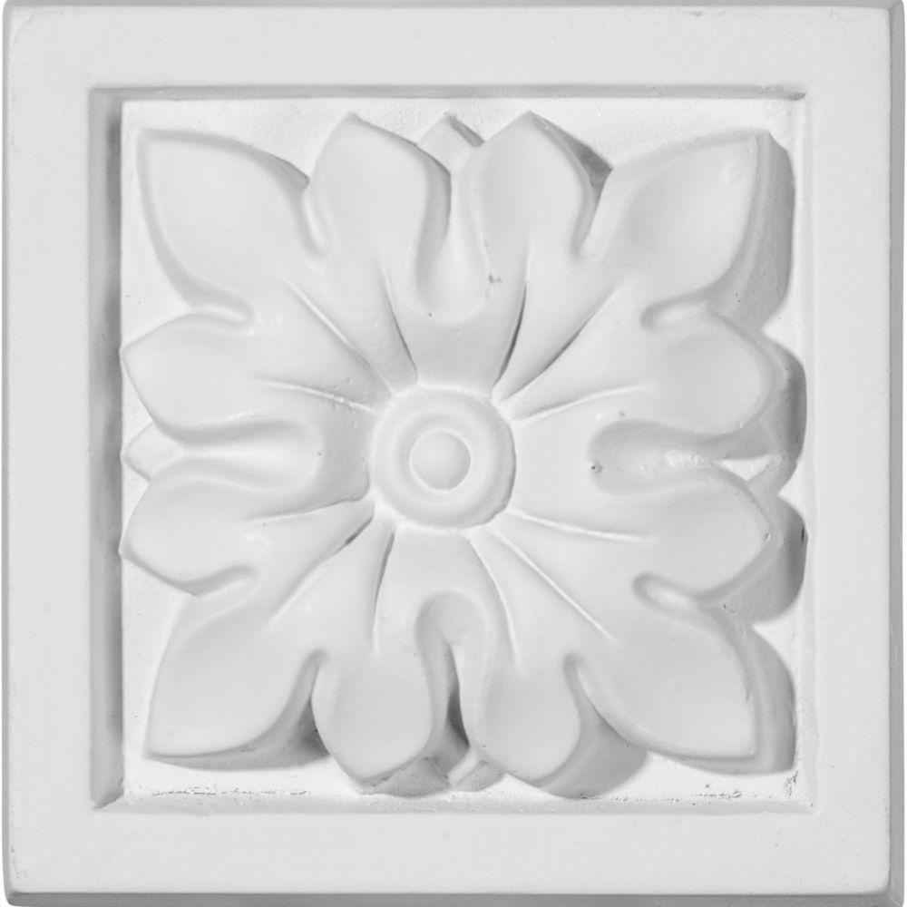 3-1/2 in. x 1-1/4 in. x 3-1/2 in. Floral Plinth Block