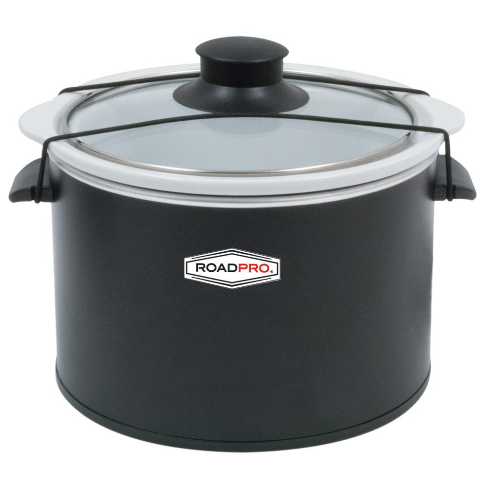 roadpro 12 volt 1 5 qt  slow cooker black roadpro 12 volt 1 5 qt  slow cooker black rpsl 350   the home depot  rh   homedepot com