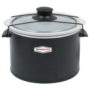 RoadPro 12-Volt 1.5 Qt. Slow Cooker Black by RoadPro