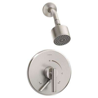 Dia 1-Handle Wall Mounted Shower Trim Kit in Satin Nickel (Valve Not Included)