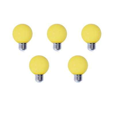 15-Watt Equivalent G14 Non-Dimmable LED Medium Screw Light Bulb, Yellow Light (5-Pack)