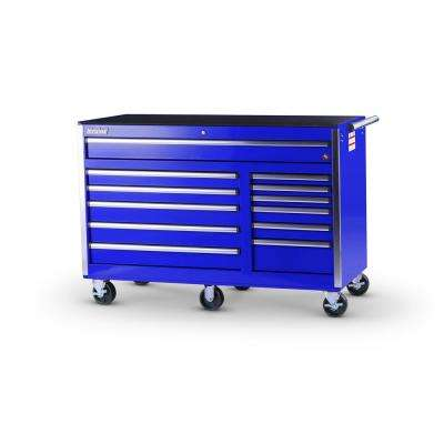 Tech Series 56 in. 12-Drawer Roller Cabinet Tool Chest in Blue