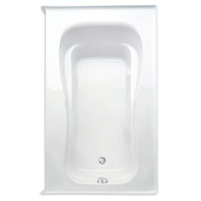 Novelli 60 in. Acrylic Right Drain Rectanglular Alcove Air Bath Tub in White