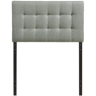 Lily Gray Twin Upholstered Fabric Headboard