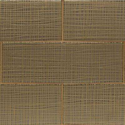 Midtown Sense Fabric Fawn 4 in. x 12 in. Glass Wall Tile (1 sq. ft.)