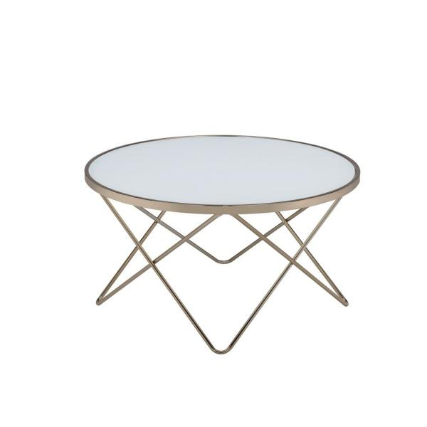 Amelia Frosted Glass Champagne Coffee Table