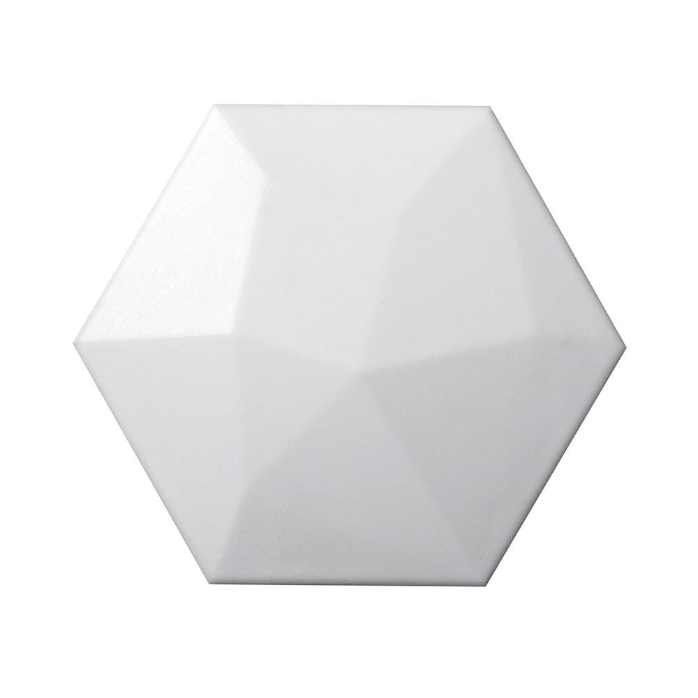 Code White Matte 2.91 in. x 3.39 in. Ceramic Wall Tile