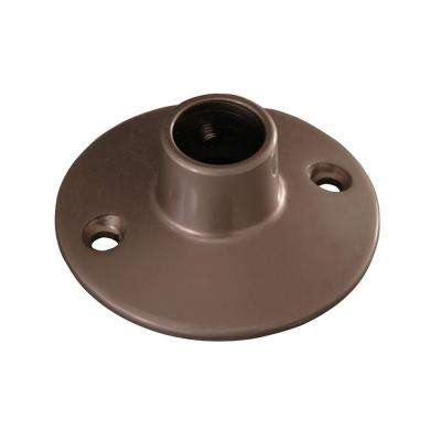 0.75 in. Round Flange for 4150 Rod in Brushed Nickel