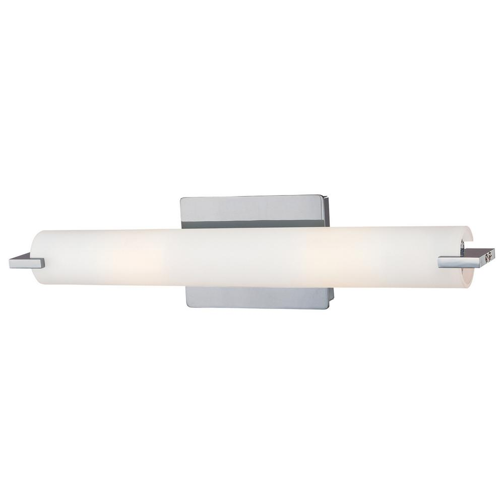 Cubism Bath Bar By George Kovacs: George Kovacs Tube 2-Light Chrome Bath Light-P5044-077-PL