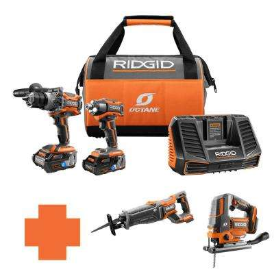 18-Volt OCTANE Lithium-Ion Cordless Brushless Combo Kit w/Bonus Brushless Recip Saw & Brushless Jig Saw
