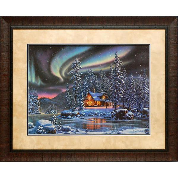 29 in. x 35 in. Aurora Bliss Printed Framed Wall Art
