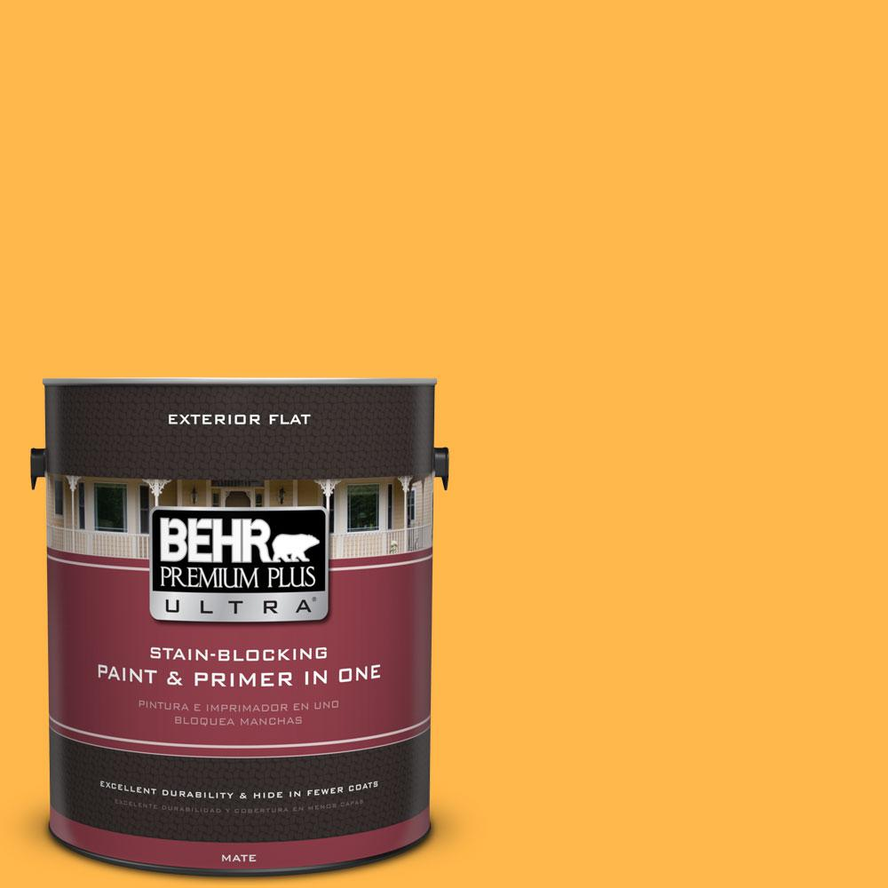 1-gal. #300B-6 Glorious Gold Flat Exterior Paint