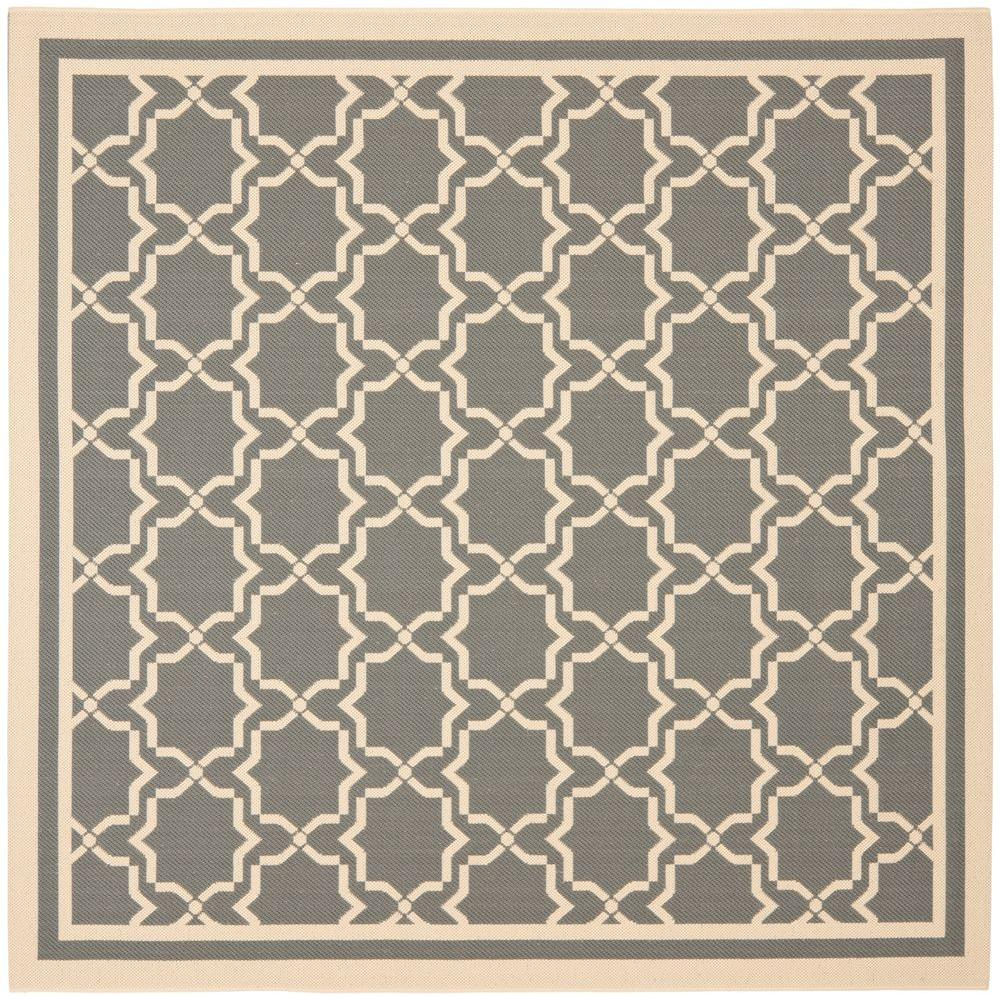 Courtyard Anthracite/Beige 5 ft. 3 in. x 5 ft. 3 in.