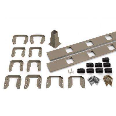 Transcend 91.5 in. Composite Gravel Path Square Baluster Stair Accessory Kit