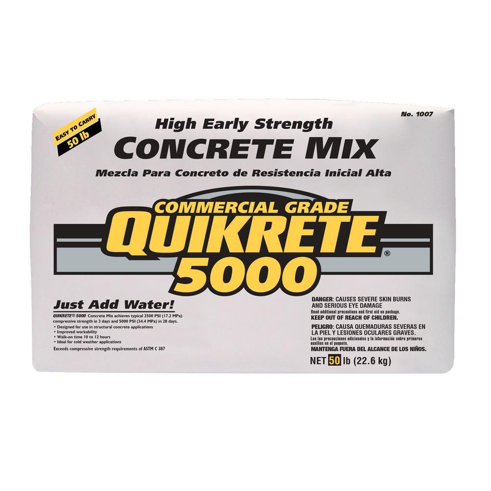 50 lbs. 5000 PSI Concrete Mix