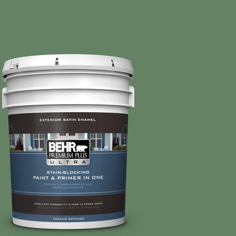 BEHR Premium Plus Ultra 5-gal. #S400-6 Tuscan Herbs Satin Enamel Exterior Paint