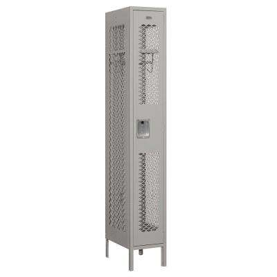 71000 Series 12 in. W x 78 in. H x 18 in. D Single Tier Vented Metal Locker Assembled in Gray