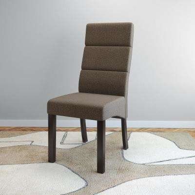 Antonio Brown Upholstery Tall Back Dining Chairs (Set of 2)