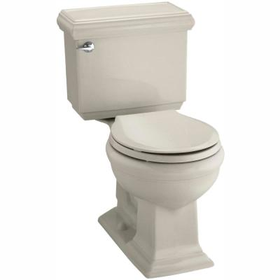 Memoirs Classic 2-piece 1.28 GPF Single Flush Round Toilet with AquaPiston Flushing in Sandbar, Seat Not Included