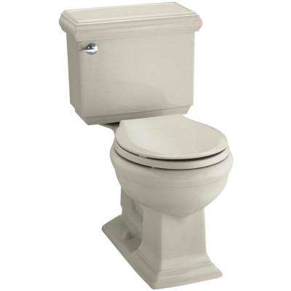Memoirs Classic 2-piece 1.28 GPF Single Flush Round Toilet with AquaPiston Flushing in Sandbar, Seat Not Included
