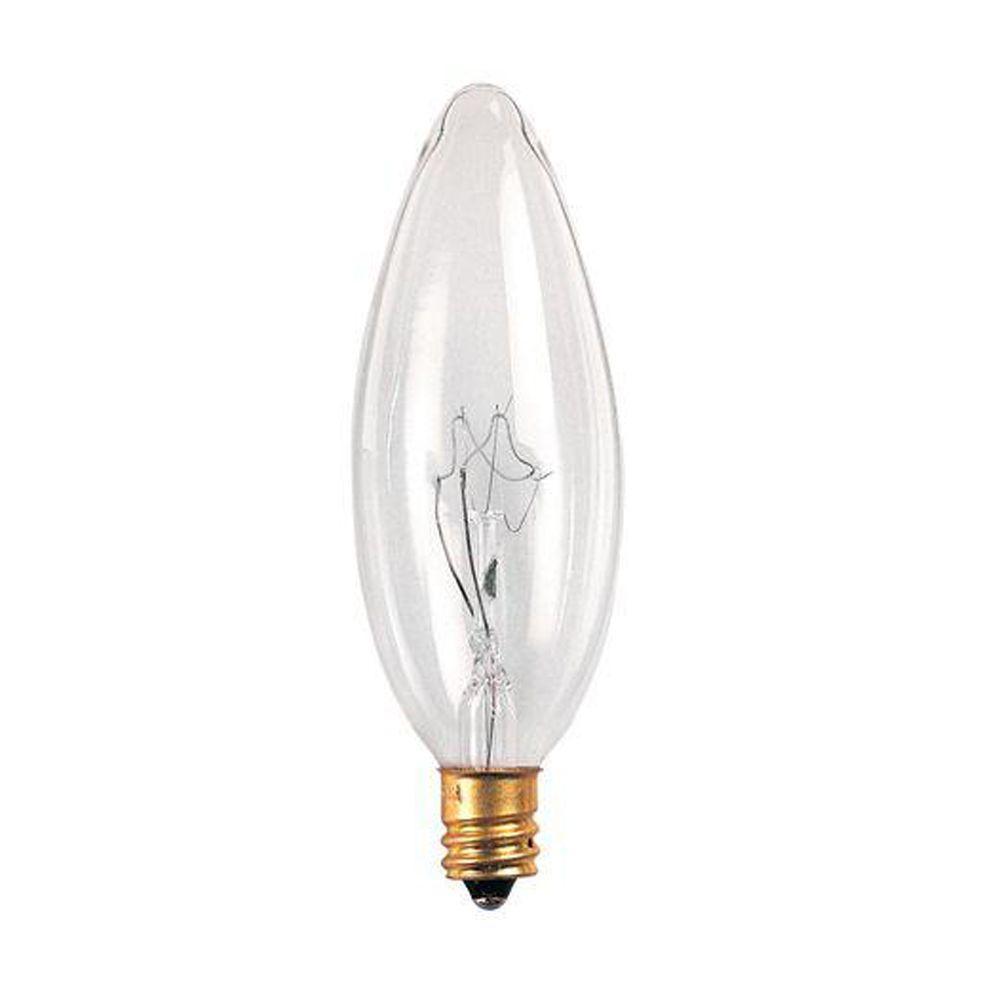 Bulbrite 60-Watt Incandescent Torpedo/B10 Light Bulb (25-Pack)