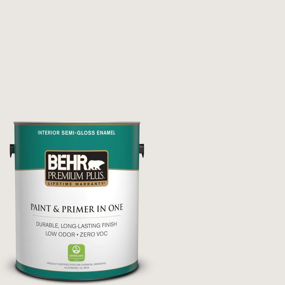 1 gal. #PWN-64 Silver Dust Semi-Gloss Enamel Zero VOC Interior Paint
