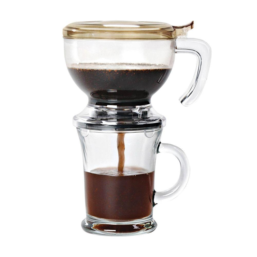 Honey-Can-Do Honey-Can-Do Incred'a Brew Clear Single Serve Coffee Maker, Clear/Mocha
