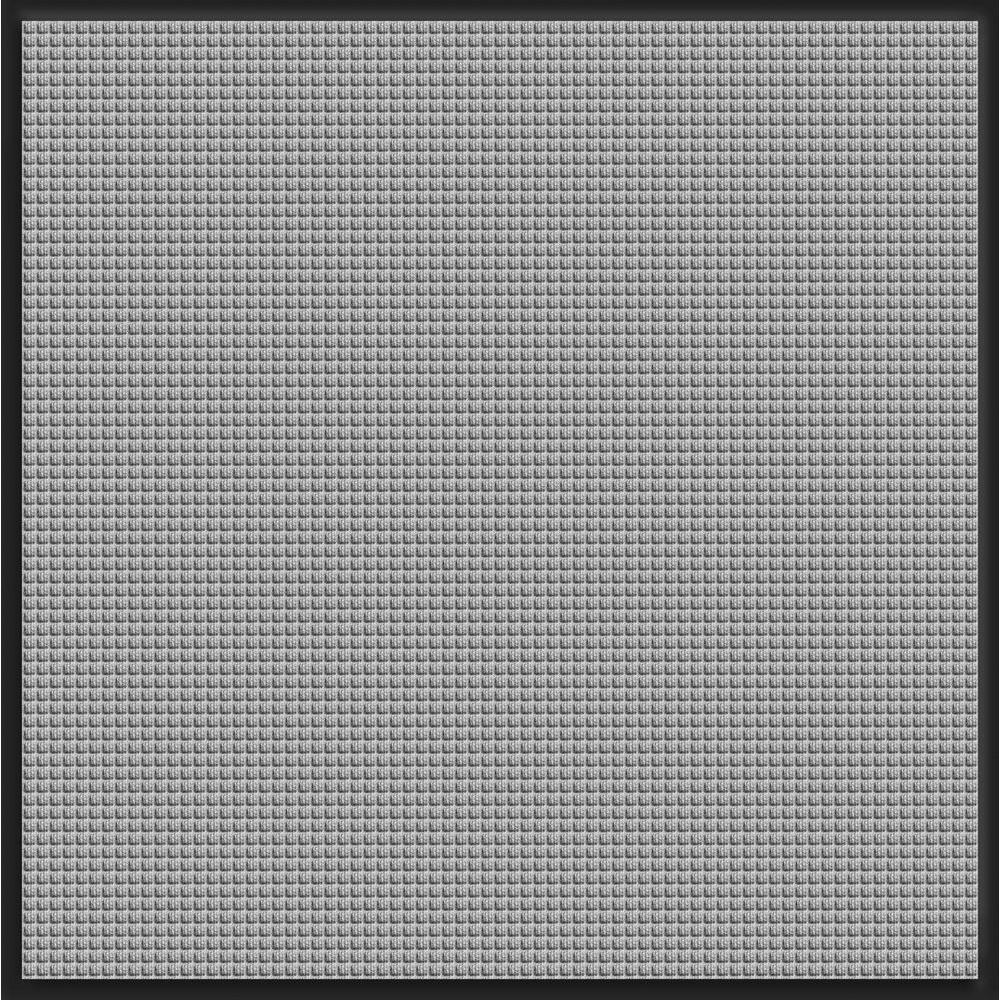 Bungalow Flooring WaterGuard Medium Gray Snow Mobile 44.25 in. x 49 in. Landing Pad