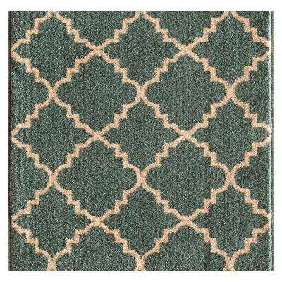 Kurdamir II Taza Light Blue/Bone 33 in. x Your Choice Length Stair Runner
