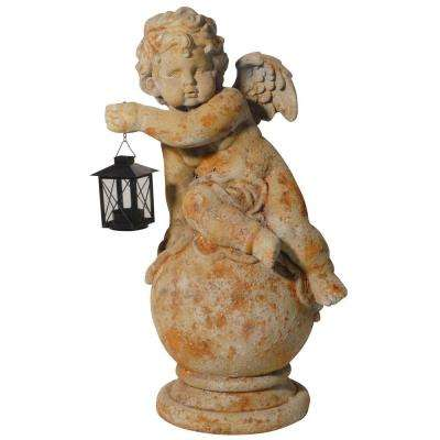 22 in. Gavreel Angel Sculptural Accent with Lantern