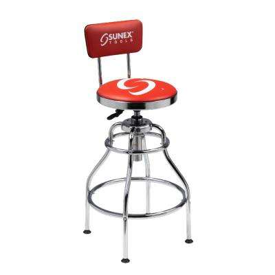 Chrome Hydraulic Shop Stool