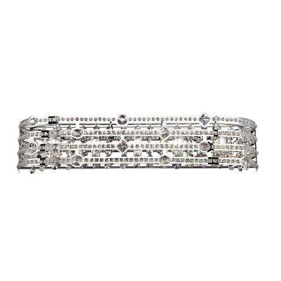 Mica Collection 5-Light Chrome and Clear Bath Light