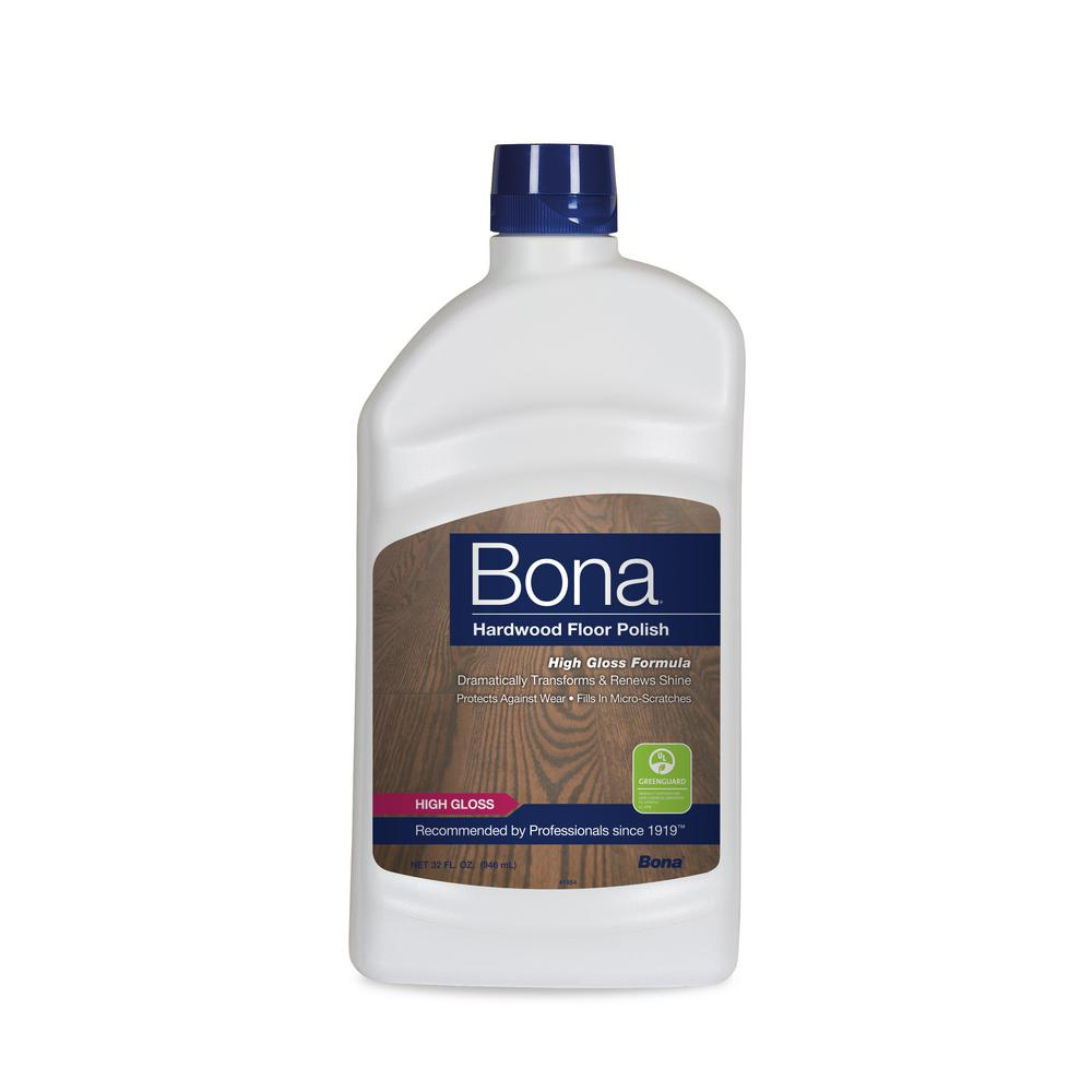 Bona 32 Oz High Gloss Hardwood Floor Polish Wp510051002 The
