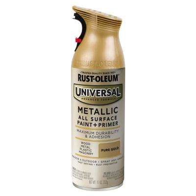 11 oz. All Surface Metallic Pure Gold Spray Paint and primer in One (6 Pack)