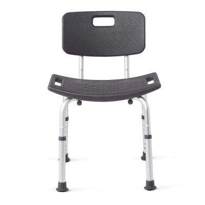 Shower Chair Bath Bench with Back Support, Infused with Microban Antimicrobial Protection