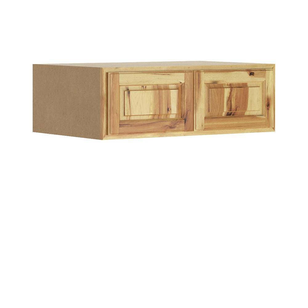 Madison Base Cabinets In Medium Oak: Hampton Bay Madison Assembled 36x12x24 In. Wall Deep