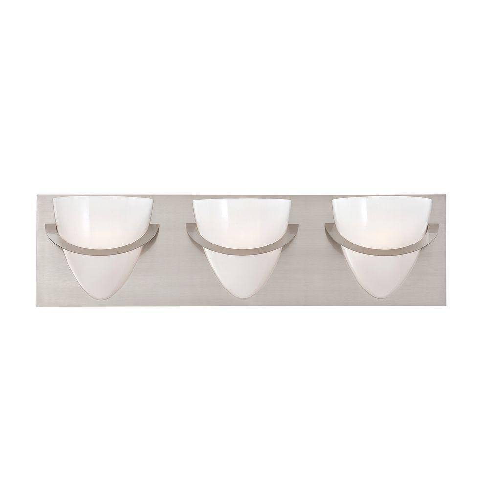 Forma Collection 3-Light Satin Nickel Bath Bar Light