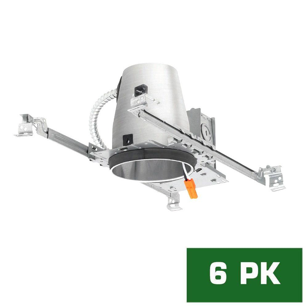 New construction recessed lighting lighting the home depot led recessed housing new construction can 6 pack aloadofball Choice Image