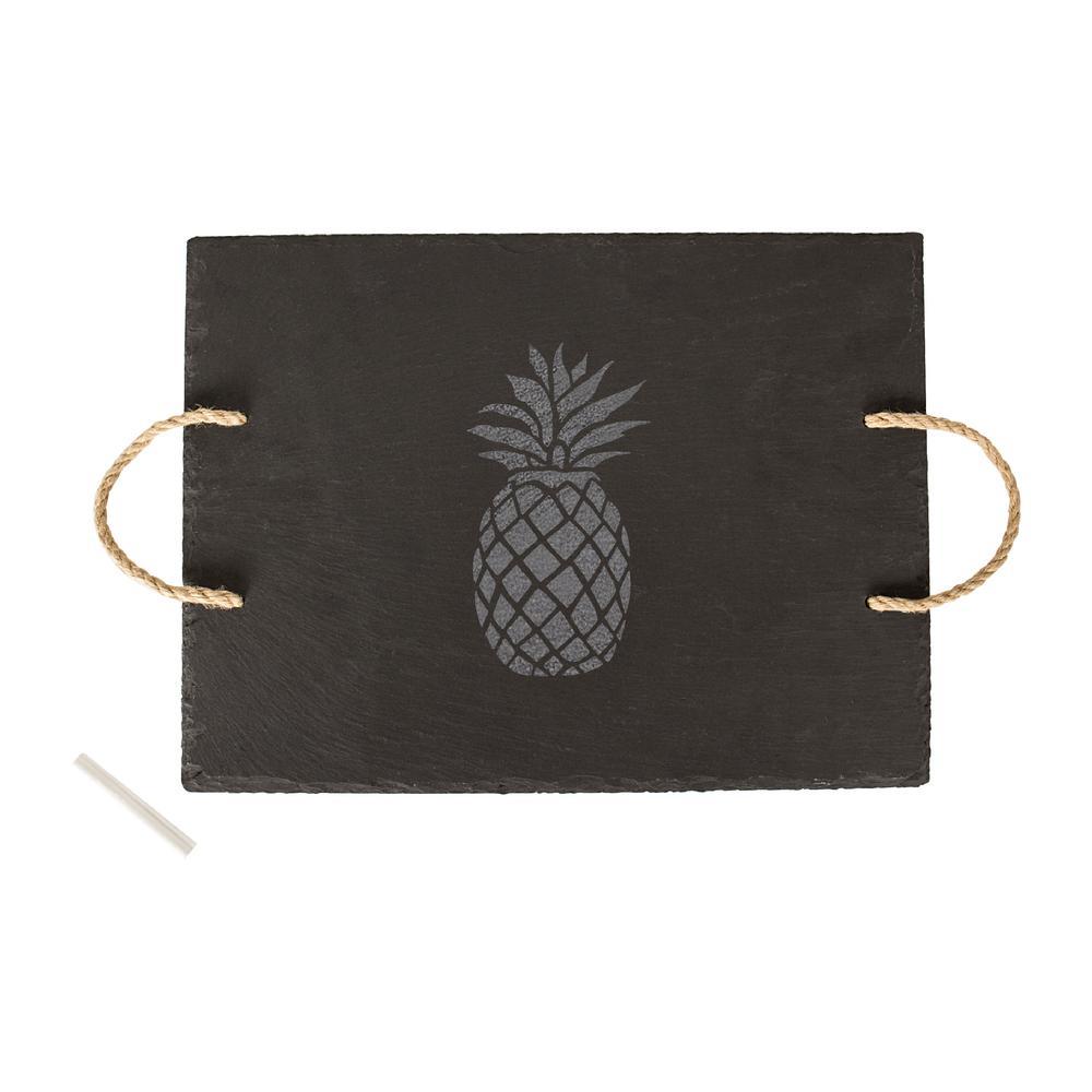 Pineapple 15.75 in. x 12 in. x .25 in. Slate Tray