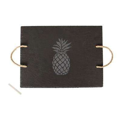 Pineapple 15.75 in. x 12 in. x .25 in. Slate Tray