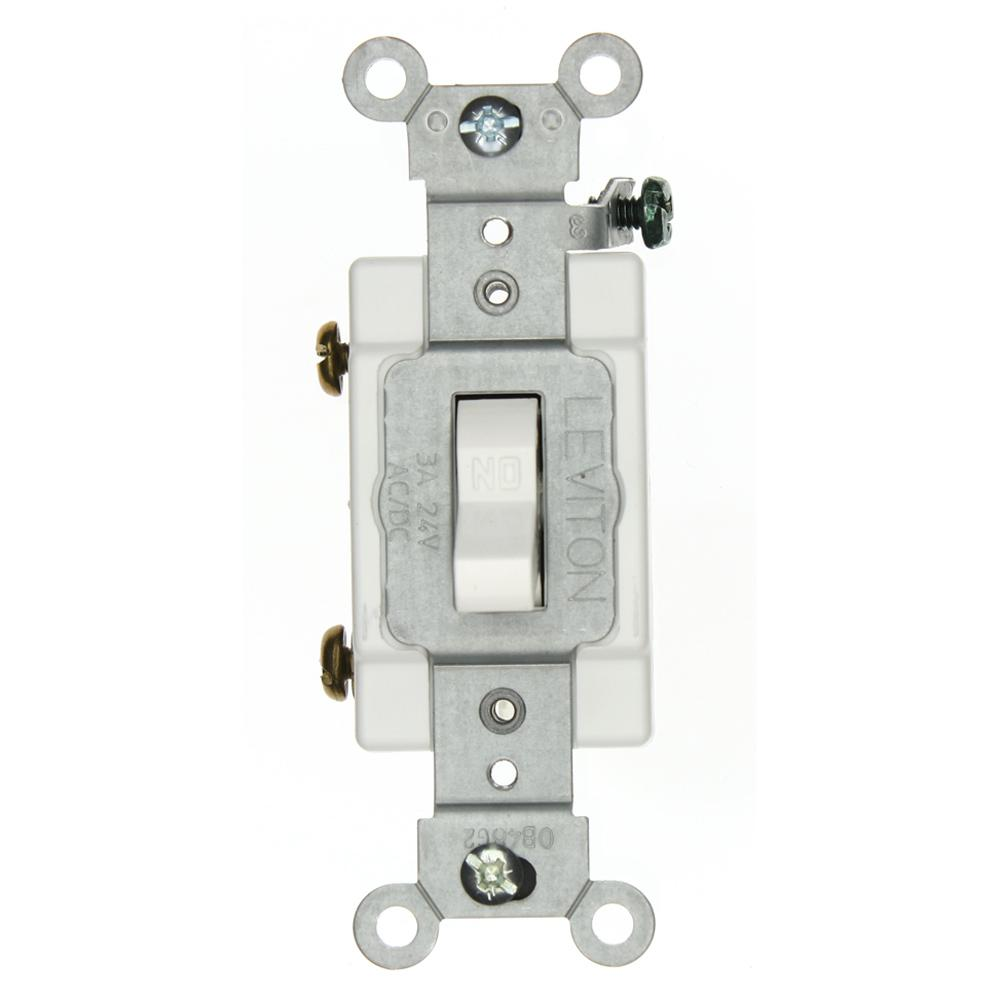 Leviton 3 Amp Industrial Grade Heavy Duty Single-Pole Toggle Switch ...