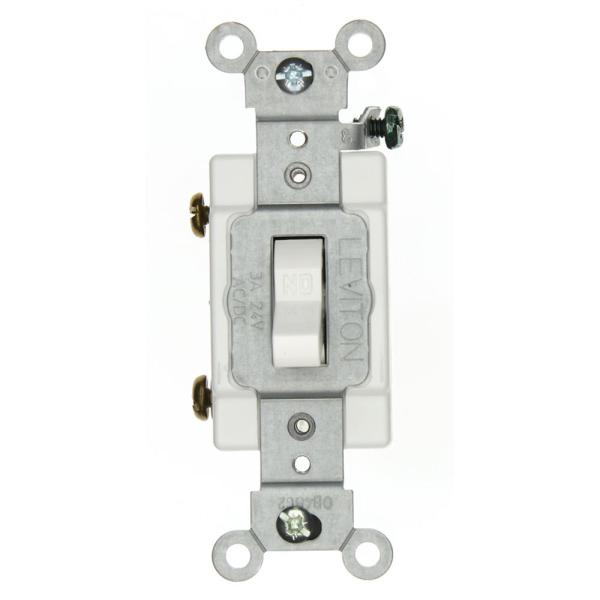 3 Amp Industrial Grade Heavy Duty Single-Pole Toggle Switch, White