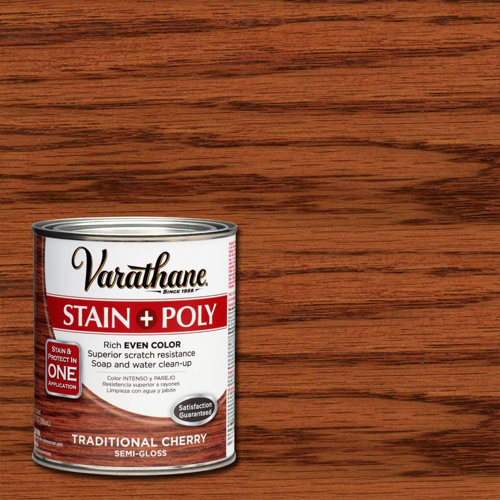 Home Depot Floor Stain Colors Traditional Cherry Stain and Polyurethane (2-Pack)